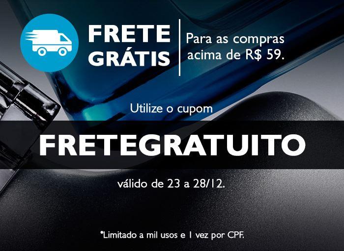 Frete grátis para produtos Natura - cupom exclusivo Revista Natura Online