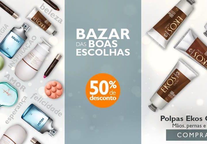 Revista Natura com até 50% de desconto – Bazar das Boas Escolhas