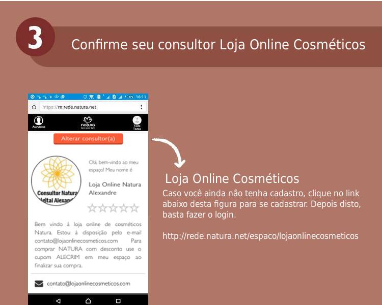 Escolha seu consultor Natura Online - Loja Online Cosméticos (http://rede.natura.net/espaco/espacoaa)
