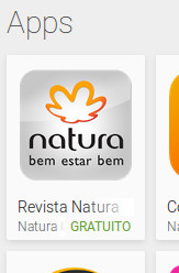 Aplicativo Revista Natura Online na Google Play