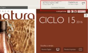 Revista Natura Online por região