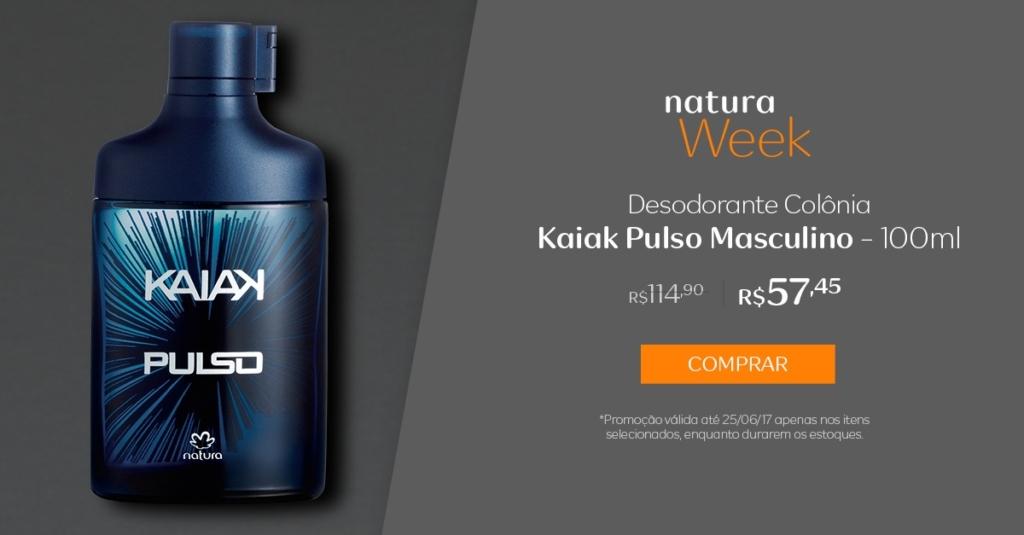 Natura Desodorante colônia Kaiak Pulso masculino - 10ml - Preço R$ 57,45 na Natura Week