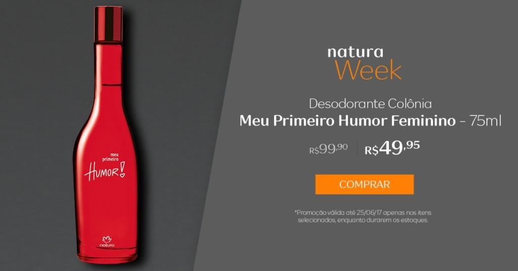 Natura desodorante colônia Meu Primeiro Humor feminino - 75ml - preço R$ 49,95 na Natura Week