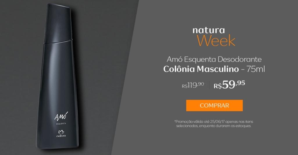 Natura Amó Esquenta desodorante colônia masculino - 75ml - preço R$ 59,95 na Natura Week
