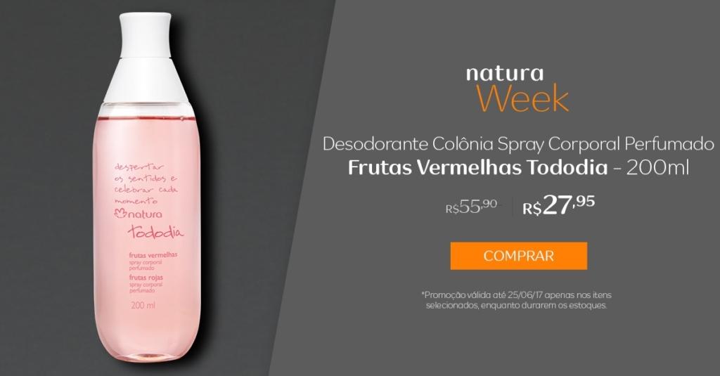 Desodorante Colônia Spray Corporal Perfumado Frutas Vermelhas Tododia - 200ml - preço R$ 27,95 na Natura Week