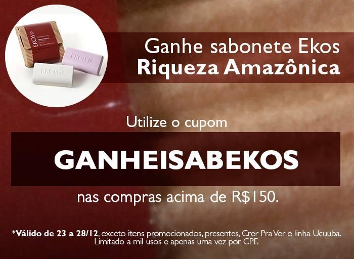Sabonete Natura Ekos Riqueza Amazônia DE GRAÇA - Revista Natura Online